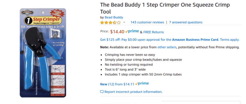 Bead Buddy One-Step Crimper