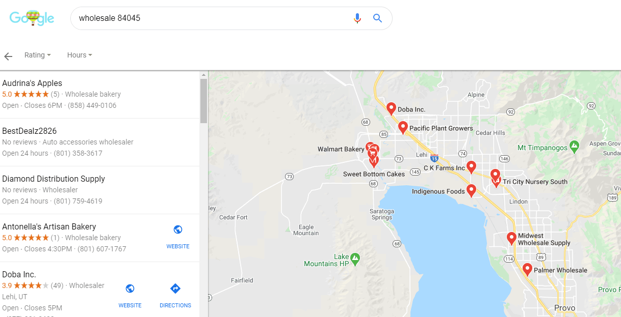 Find suppliers on google