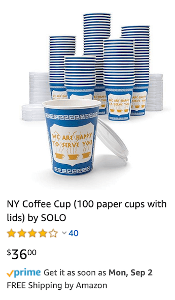 NY coffee cup