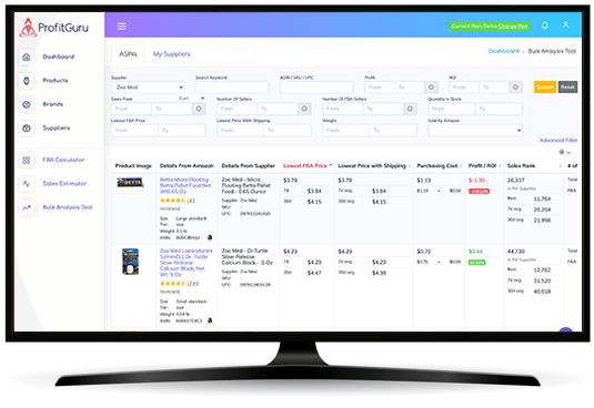 ProfitGuru bulk analysis tool