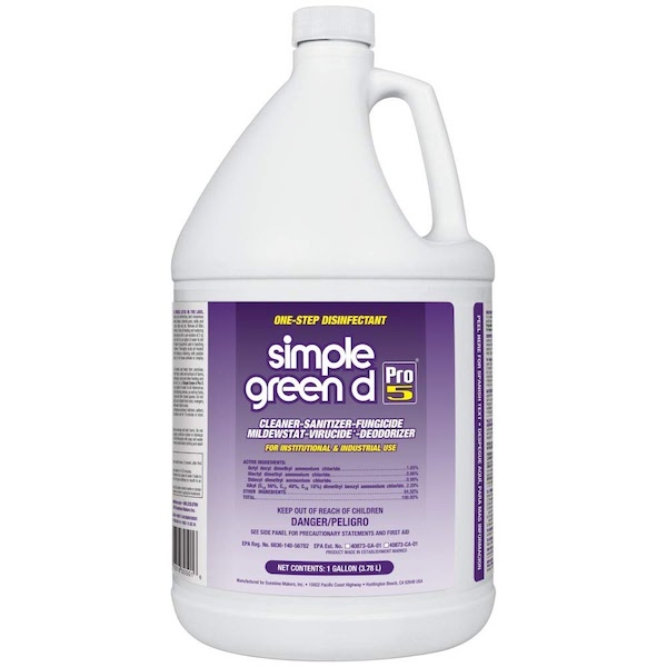 Simple green disinfectant